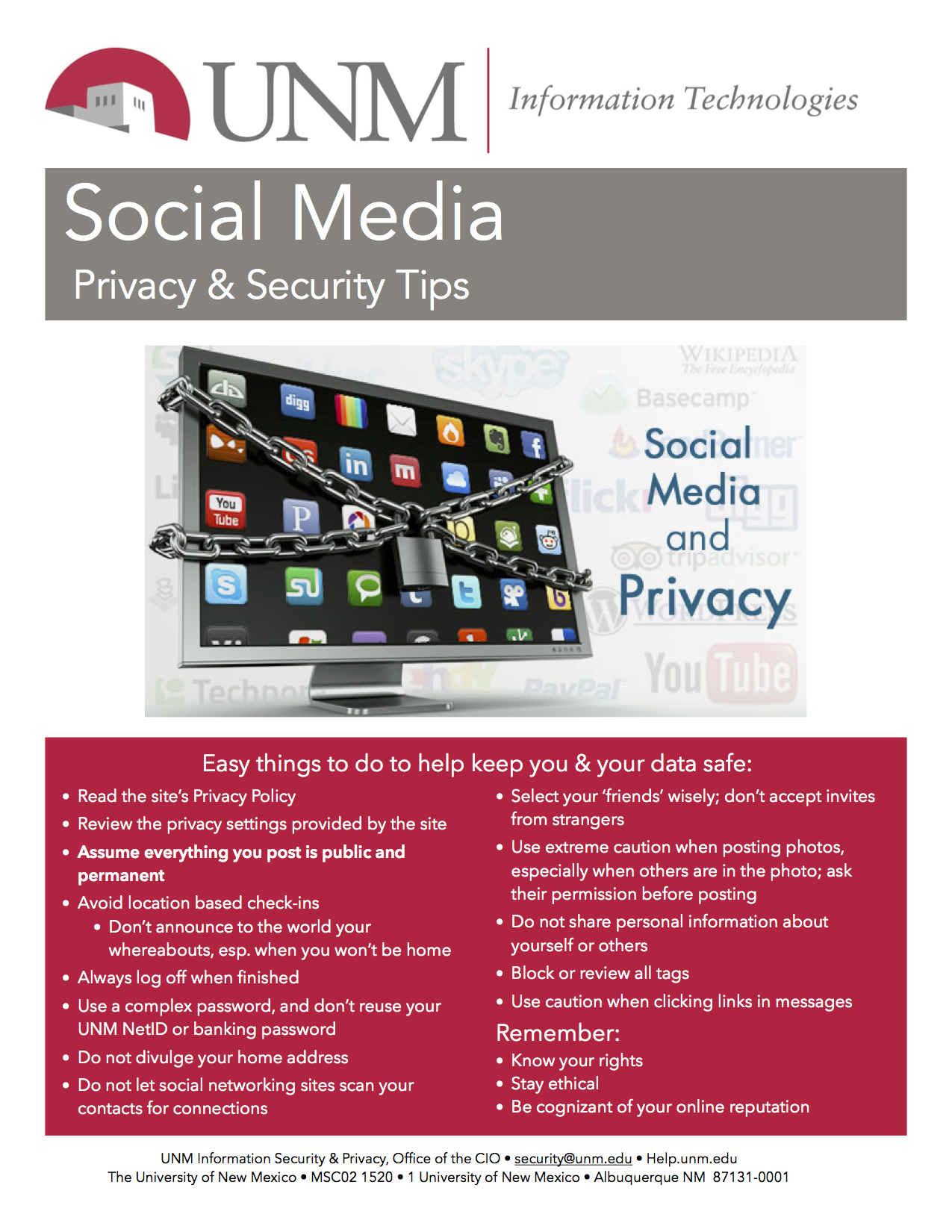 Media Information Security Amp Privacy Office The